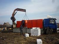 Перевозка газоблока манипуляторами 15 тонн