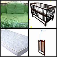 Кроватка для новорожденного+всё комплектующее для сна.