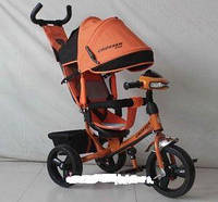 Детский трехколесный велосипед Азимут Crosser T1 фара, EVA, Оранжевый