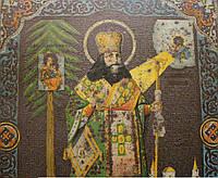 Антикварная икона Святой Феодосий Черниговский старинная 1903г