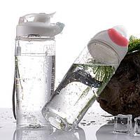 Бесконтактная бутылка для воды ESLOE. Розовая