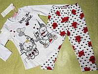 Летний комплект с лосинами и кофтой для девочки 18-36 месяцев