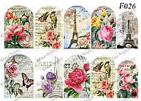 Слайдер -дизайн Цветы,Париж,Птичка F026