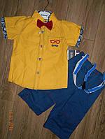 Летний костюмчик для мальчика с подтяжками 4-5 лет