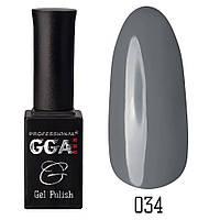 Гель-лак GGA Professional 034 Ash Gray 10 мл