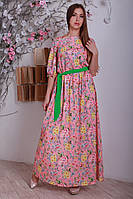 Цветочное платье в пол с легкой качественной ткани