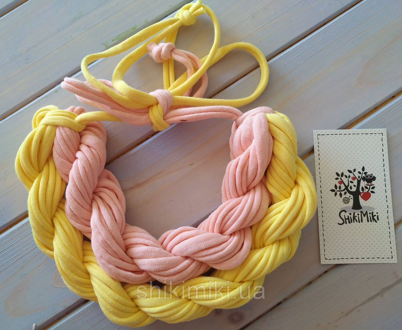 Колье женское вязаное из трикотажной пряжи Манго