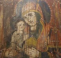 Старинная Антикварная икона Божья Матерь Праворучица