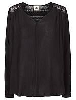 Блуза рубашка черного цвета на длинный рукав Rihanna 1 от Peppercorn (Дания) в размере M