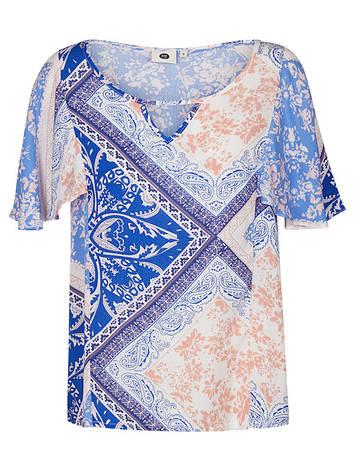 Блуза синего цвета с рукавами крылышками Windu 1 от Peppercorn (Дания) в размере M, фото 2