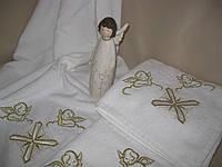 """Крыжмо полотенце для крещения """"Бейби"""". Крыжма. Крижмо. Белое полотенце для крестин"""