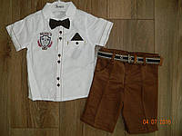 Нарядный летний костюмчик для мальчика  с белой рубашкой на 3 года