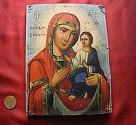 Старая Антикварная икона Божья Матерь Тихвинская