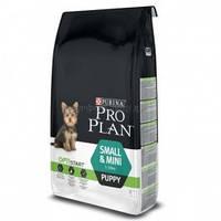 Purina Pro Plan Puppy SMALL and MINI для щенков мелких и карликовых пород с курицей, 3 кг