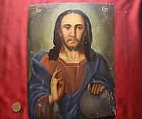 Старинная Антикварная икона Вседержатель