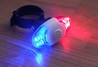 Задний габарит мигалка задняя моргалка а-ля полиция красный с синим фонарик фонарь