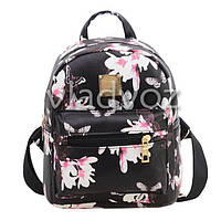Молодежный модный рюкзак подросток девочка черный бабочки