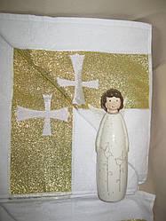 """Махровое полотенце для крещения новорожденного """"Православное"""". Крыжма. Крижмо. Крыжма для крестин ребенка"""