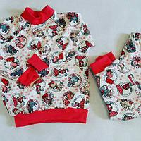 Трикотажная пижама с манжетами размер 98-116. В наличии 86,92,98,104,110,116