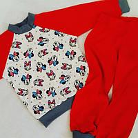 Трикотажная пижама с манжетами. Рост 98-116. На возраст  3-4 года