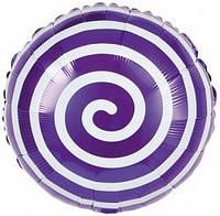 Шар фольга Лолли-поп фиолетовый