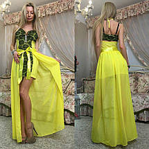 """Облегающее гипюровое мини-платье """"Liaza"""" с шифоновым шлейфом (3 цвета), фото 3"""