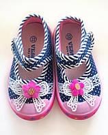 Босоножки детские текстиль Цветочек для девочки