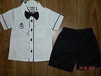 Нарядные костюмчики с белой рубашкой и темными шортами на рост 92 см и 104 см