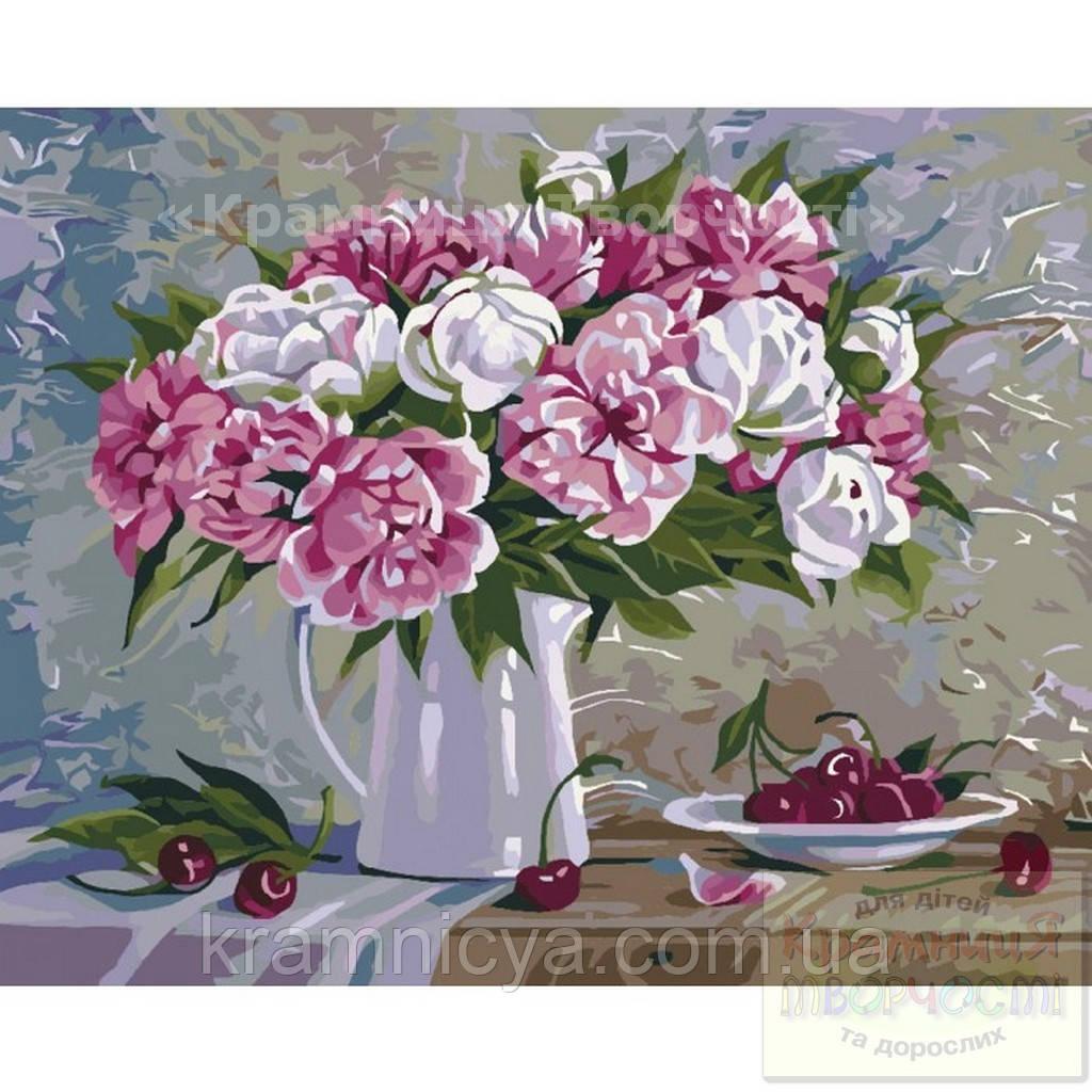 Картина по номерам: Пионы и вишни, 40х50см. (КНО2061)