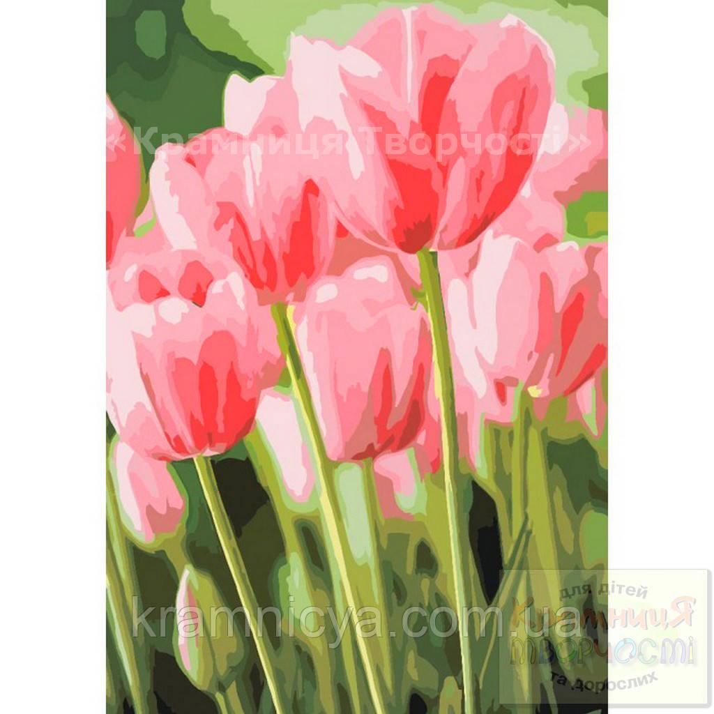 Картина по номерам: Весенние тюльпаны, 35х50см. (КНО2069)