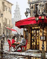 Картина по номерам: Свидание в кафе, 40х50см. (КНО2144)