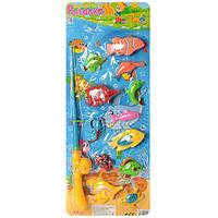 Рыбалка, удочка с магнитом, 12 рыбок, на планшете 58*22 см (72шт)