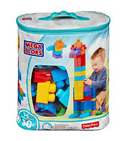 Mega Bloks конструктор Мега Блок 80 деталей  First Builders Big Building Bag Classic