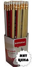 Карандаши чернографитные NATARAJ 621 (HB) с ластиком 201151020