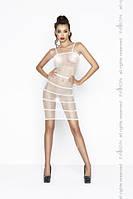 Прозрачное сексуальное платье Passion BS033 белое