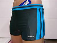 Плавки-шорты мужские Atlantis серый с голубым, фото 1