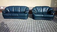 Шикарный комплект кожаной мягкой мебели,  3+2. Качественная мебель б\у из Европы