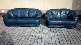 Комплект мягкой кожаной мебели из Европы б/у  3+2