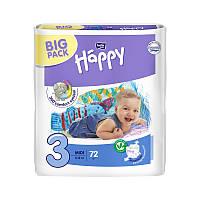 Подгузники Happy р.3 (5-9 кг) 72 шт.