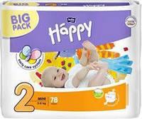 Подгузники Happy р.2 (3-6 кг) 78 шт.