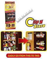 Универсальный кухонный органайзер Clip n Store для шкафов и холодильников v