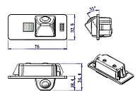 Камера заднего вида Audi Штатная камера заднего вида AUDI A4L, фото 1