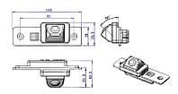 Штатная камера. Камера заднего вида. Штатная автомобильная камера заднего вида Buick Excelle CCD