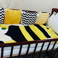 Комплект в детскую кроватку - бортики + постельное бельё