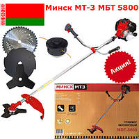 Мотокоса Минск МТ3 МБТ-5800 (3 ножа, 1 катушка)