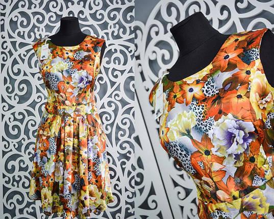 """Сочные летние платья ткань """"Атласный шелк"""" 40, 42, 44 размеры норма, фото 2"""