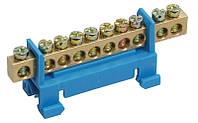 Шина нулевая в корп изол на DIN-рейку ШНИ-6х9-12-К-Ср, YNN10-69-12KD-K02, ИЭК
