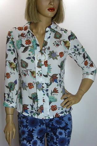 Креп шифонова блузка з квітковим принтом Miss Pois, фото 2