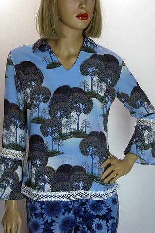 Блузка з мереживом і квітковим  принтом Miss Pois, фото 2