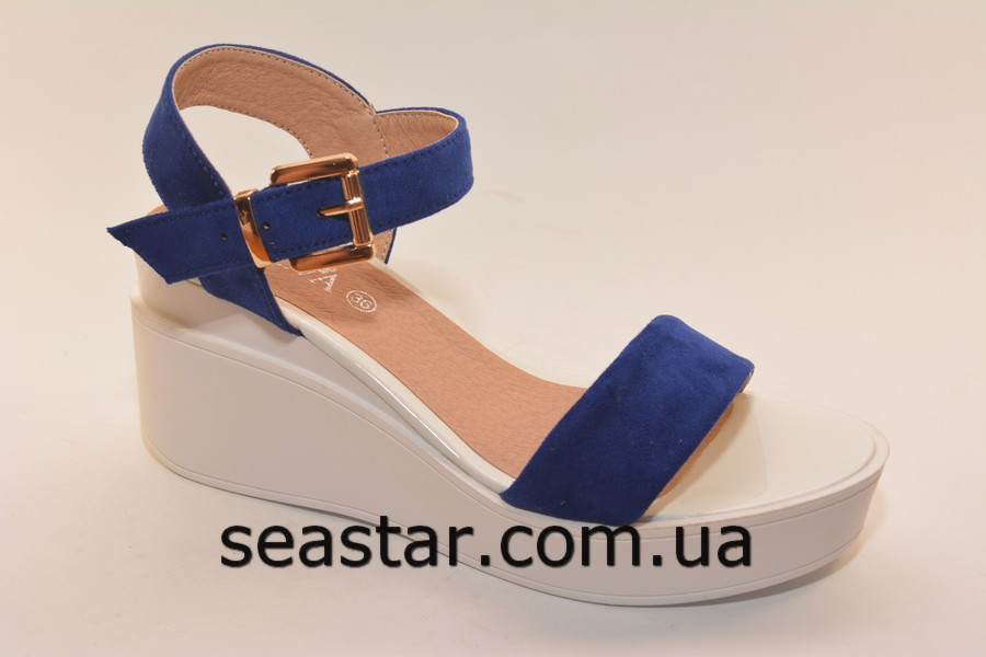 Женские замшевые босоножки на платформе - Seastar.com.ua - женская обувь оптом в Хмельницком